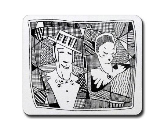 Art Deco Couple Mouse Pad -