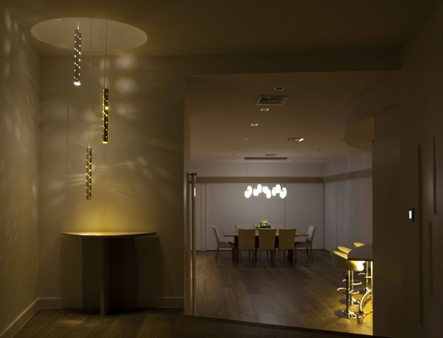 Heavy Rain. Large Light Drops. contemporary-chandeliers