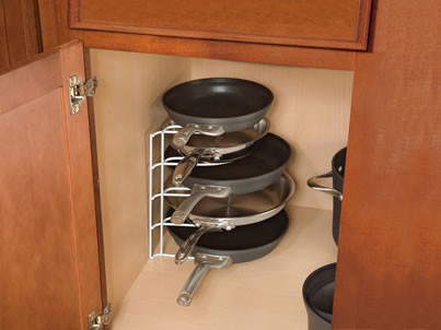 Rubbermaid Pan Organizer  cabinet and drawer organizers