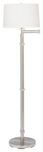 Helene Swing Arm Floor Lamp contemporary floor lamps