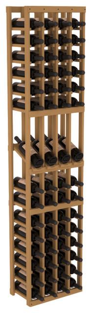 4 Column Display Row Wine Cellar Kit in Pine, Oak Stain contemporary-wine-racks