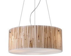 Modern Organics Drum Pendant contemporary pendant lighting