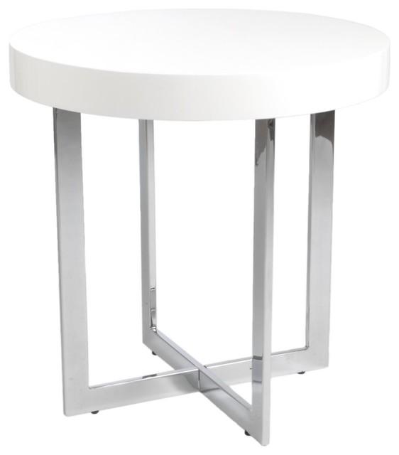 Amazing White Round Side Table Chrome 562 x 640 · 22 kB · jpeg
