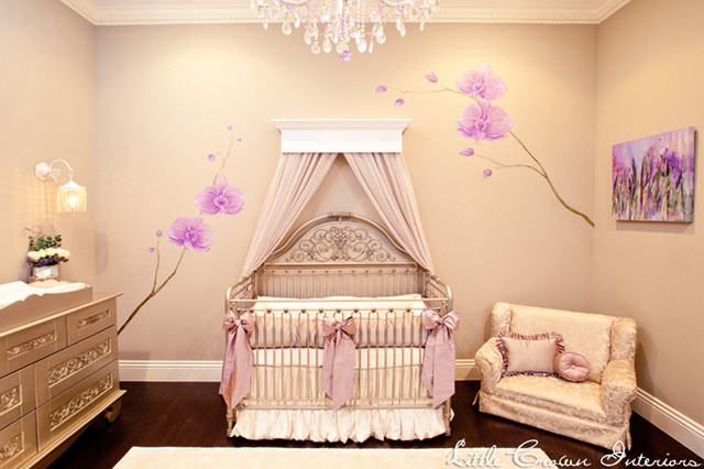 Neutral and Lavender Girl's Nursery for Mel B. traditional-kids