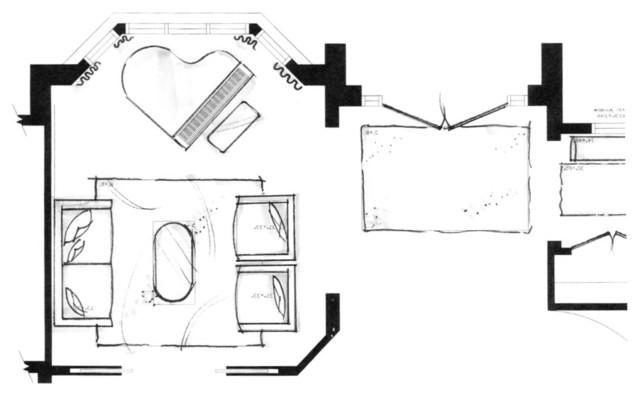 family home music room floor plan contemporary floor plan
