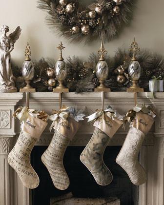 Fleur-De-Lis Glass Stocking Holder traditional-holiday-decorations