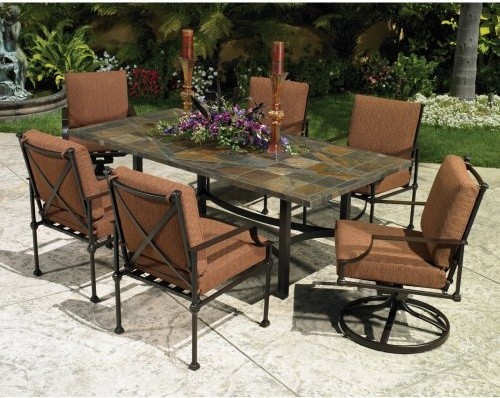 O W Lee Palazzo Patio Dining Set Traditional Patio Furniture And Outdoor Furniture By