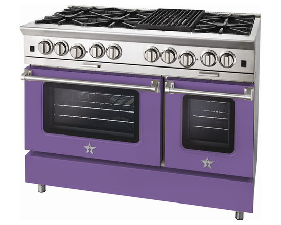"BlueStar Platinum Series: 48"" Range - 48"" BlueStar Platinum Range in Blue Lilac (RAL 4005)"