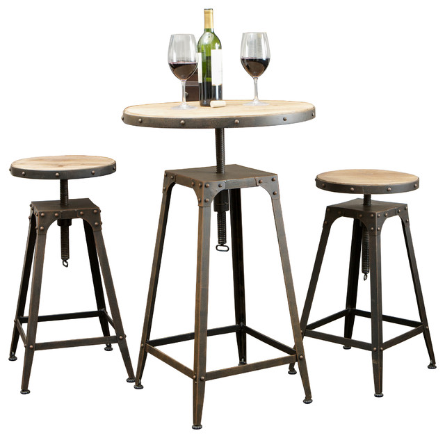 Tavern Industrial Design Bar Bistro Set Industrial Dining Sets