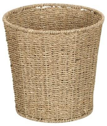 Seagrass Waste Basket, Natural traditional-waste-baskets