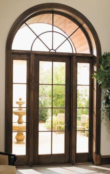 Hinged Wood Patio Door Mediterranean Front Doors San Francisco By Pella Doors And