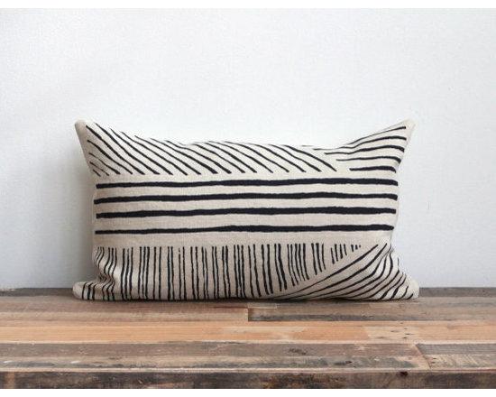 Karnataka Hand-Printed Pillow Cover by Chanee Vijay Textiles -