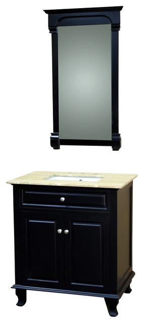 32 Inch Single Sink Vanity-Wood-Ebony modern-bathroom-vanities-and-sink-consoles