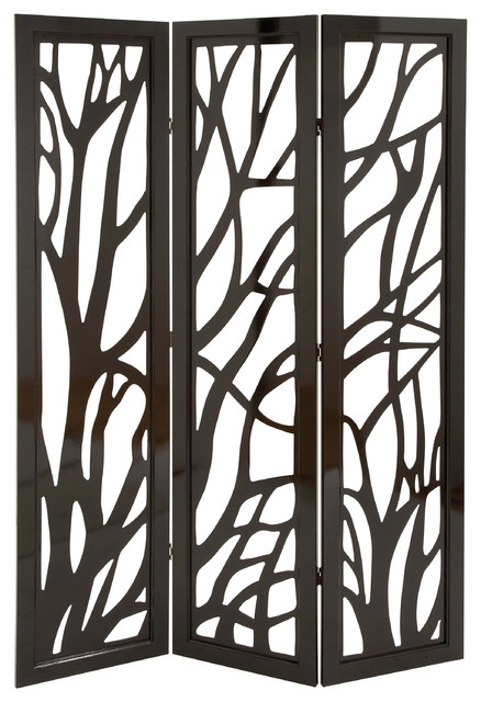 Privacy divider screen tree branch pattern brown family decor contemporary screens and room - Decorative partitions room divider ...
