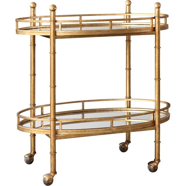 Bungalow 5 Gold Normandy Bar Cart Contemporary Bar