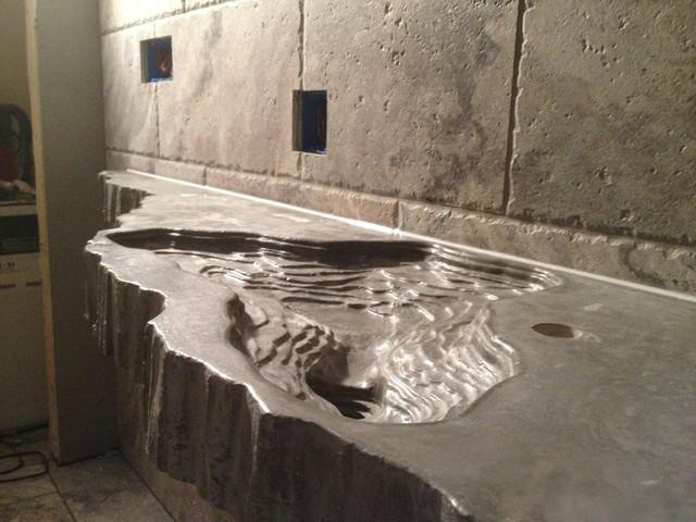 Concrete Counter Tops - contemporary - bathroom countertops - st