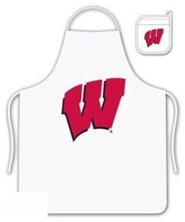 Wisconsin University Tailgate Apron and Mitt Set aprons