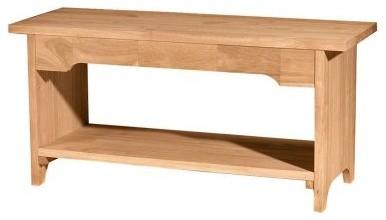 International Concepts Brookstone Trestle Bench modern-furniture