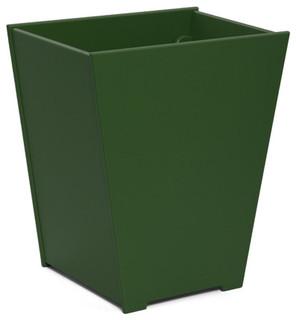 Taper planter 15 gallon evergreen contemporary for Loll planters