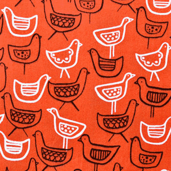 Anika Hens by Monaluna organic cotton fabric 1 yard by bloomerie  upholstery fabric
