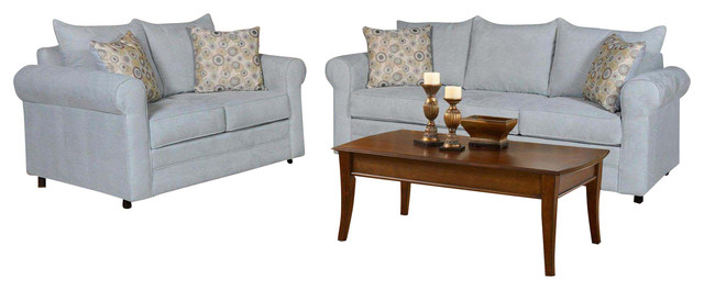 Chelsea Home 2-Piece Living Room Set in Blitz Capri - Nightlife Spring Pillows traditional-sectional-sofas
