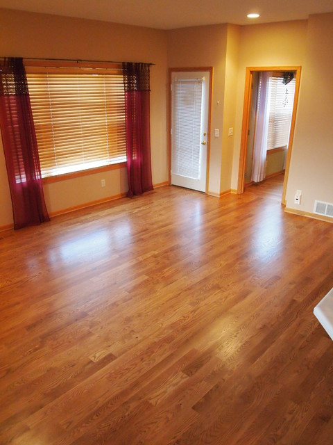 Red oak stained for Traditional flooring