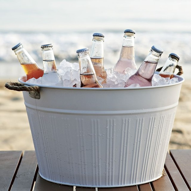 Outdoor Metal Drink Bucket contemporary-outdoor-products