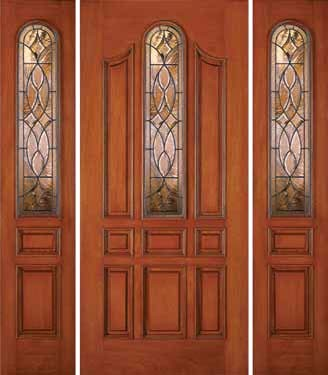 Jeld Wen 870 Mahogany Door And Sidelights Russet Finish