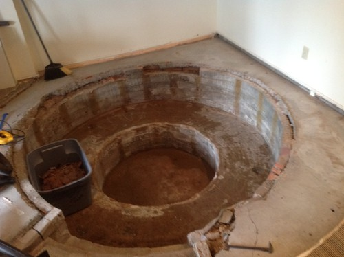 conversation pit in our basement or should we just cover it back up