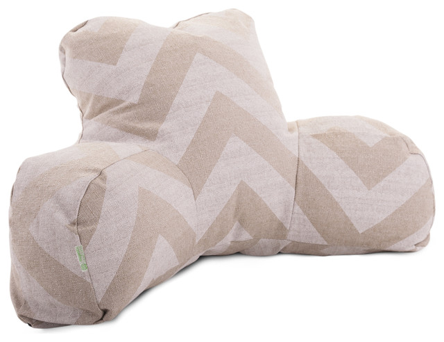 Indoor Denton Zippy Chevron Reading Pillow - Modern - Decorative Pillows - by Majestic Home Goods
