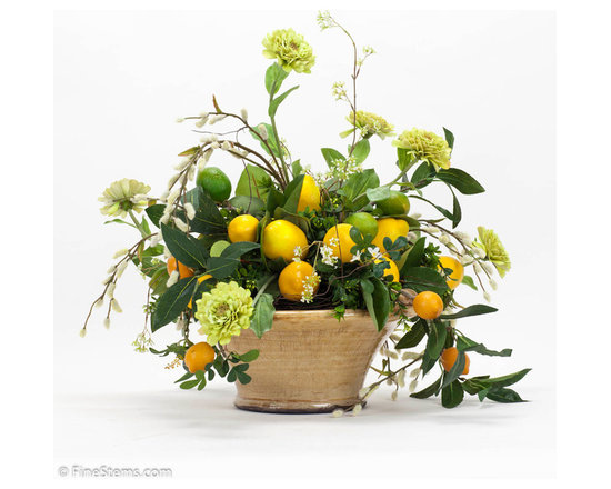 Lemon Arrangement - Lemon arrangement place in a ceramic urn.