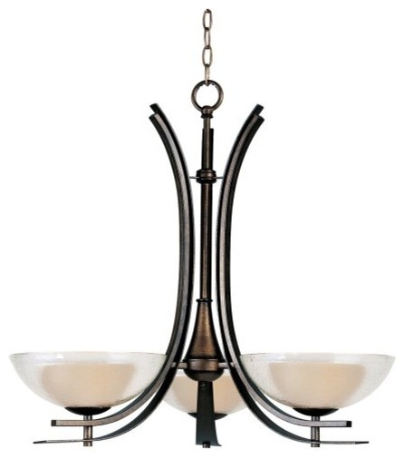 Maxim 11524TCAD Duo Single Tier Chandelier - 27W in. Auburn Dusk contemporary chandeliers
