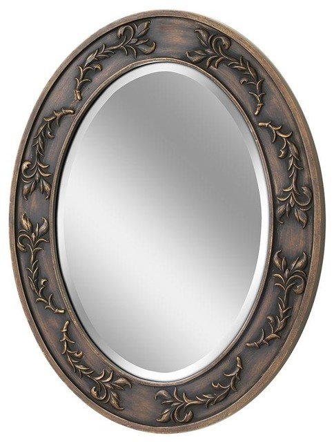 Deco Mirror Mirrors 29 in x 23 in Classic Scroll Oval