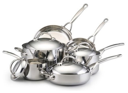 Bonjour Copper Clad 10 Piece Cookware Set contemporary-cookware