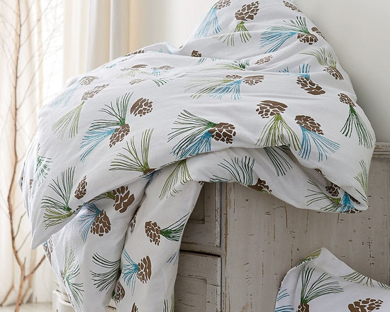 Pinecone Flannel Sheets & Bedding Set -