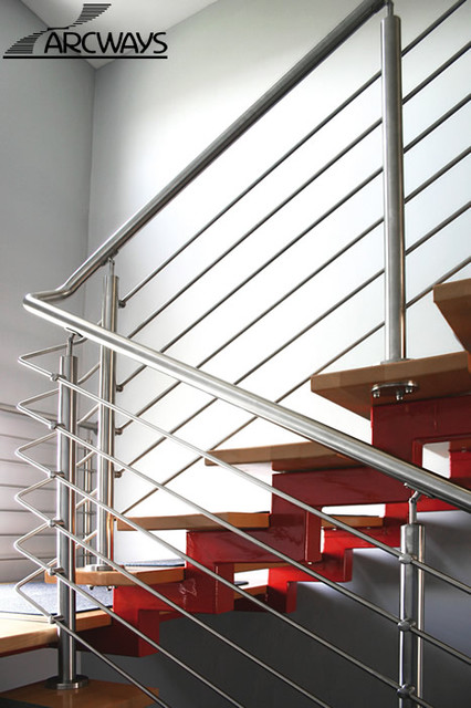 Straight Staircases contemporary-staircase