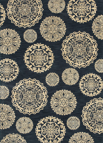 Queen Anne's Lace Rug in Navy contemporary-rugs