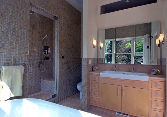 Natural Tile Bathroom eclectic-bathroom