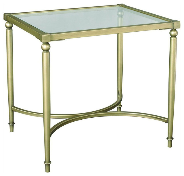 Elipse Rectangular End Table in Champagne Finish contemporary-side-tables-and-end-tables