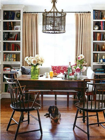 Dining Room Book Shelves Traditional