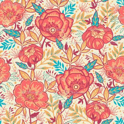 bright garden flowers wallpaper contemporary wallpaper