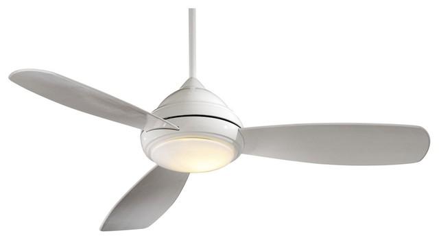 52 minka aire concept i white ceiling fan modern Modern white ceiling fan