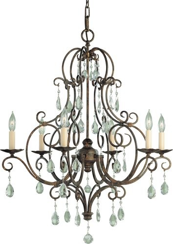 Murray Feiss Crystal Themed 6-Light Chandelier traditional chandeliers