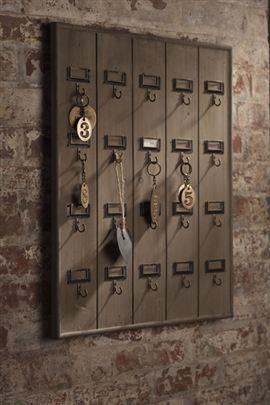 Vintage Inspired Hotel Key Rack hooks-and-hangers