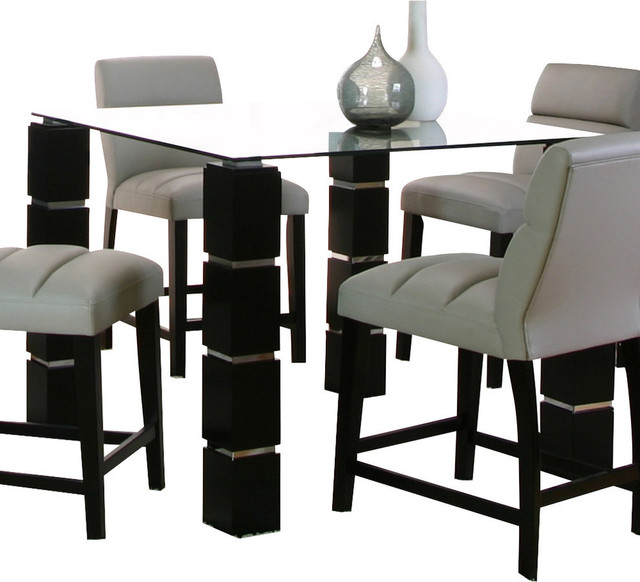 Counter Height Glass Dining Table Set : All Products / Kitchen / Kitchen & Dining Furniture / Dining Sets