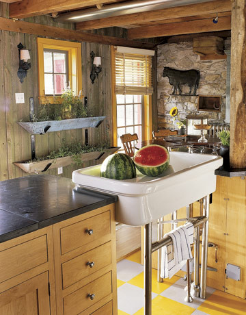 Country Living- David Drummond Kitchen eclectic