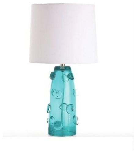 Arteriors poppy tall turquoise glass lamp modern lamp shades