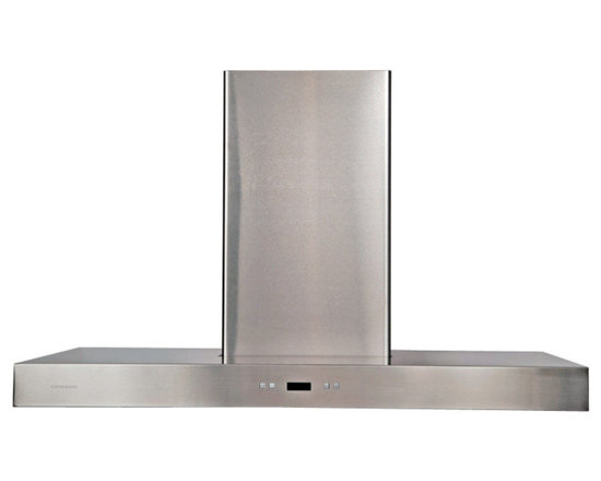 Cavaliere - Cavaliere-Euro SV218Z2-I36 Stainless Steel Island Mount Range Hood - Cavaliere Stainless Steel 218W Island Mounted Range Hood with 6 Speeds, Timer Function, LCD Keypad, Aluminum Grease Filters, and Halogen Lights
