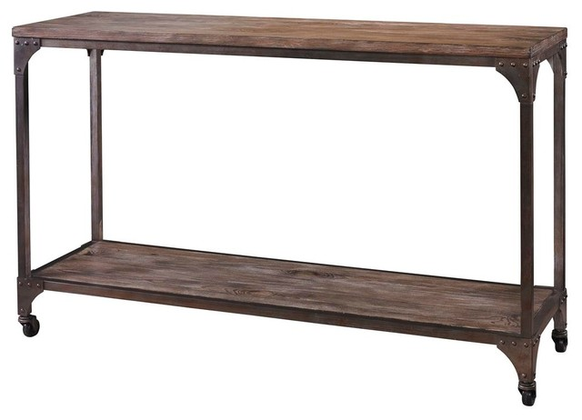 Powell Benjamin Console Table - Industrial - Console Tables - by Beyond Stores