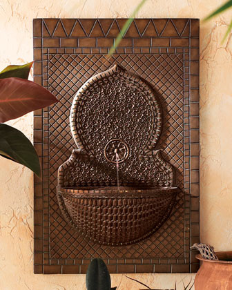 Mosaic Tile Wall Fountain traditional-outdoor-fountains-and-ponds
